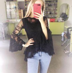 Нові блузи з гіпюром (перегортайте) ➡️🖤😍