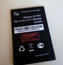 аккумулятор Fly ( BL 7401) 3,7v , 1300 mAh.