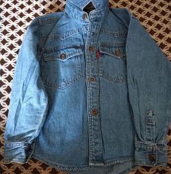 Джинсові сорочки