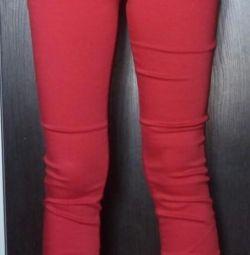 джинси червоні