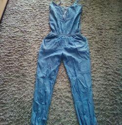 Salopetă / jeans slim /