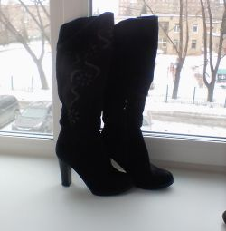 Women's boots 36 velor high can be bent from above