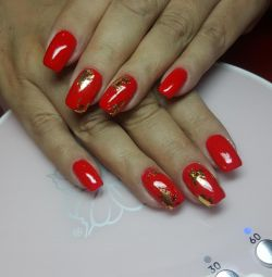 Manicure, pedicure, gel extension