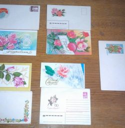 SSCB'nin kartpostalları ve zarfları