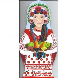 Agățat bord - matryoshka