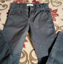 Jeans are gray, thin, growth 134