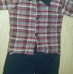 Suit for a boy new cotton