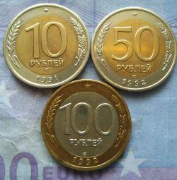 Un set de monede de 91-92 de ani.