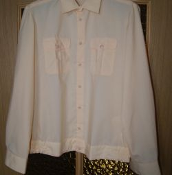 Military and navy shirts new and used (white, cream) р.52