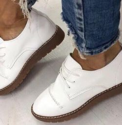 New shoes genuine leather