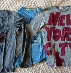 Μπλουζάκια με μακριά μανίκια για εφήβους 164 cm
