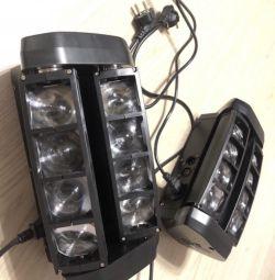 Паук световой прибор мини Spider rgbw 8x3w