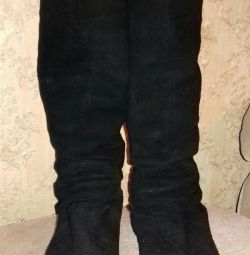 Suede boots, demizeson, r. 38