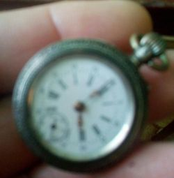 карманные дамские часы серебро