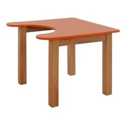 TABLE CHILD HM10187 ORANGE WITH NATURAL ORANGE