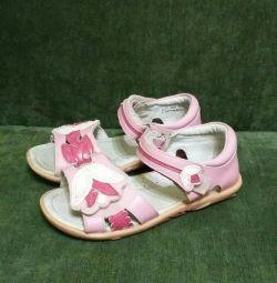 Sandale, sandale din piele