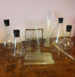 Laboratory flasks, test tubes and other USSR
