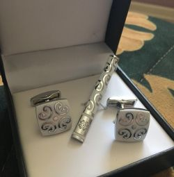 Cufflinks and clamp
