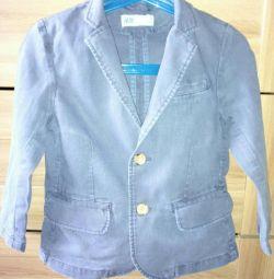 Синій лляної піджак H & M на 98 см. Б / У