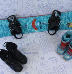 Сноуборд Burton Dominant 146 см+крепления+ботинки