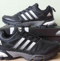 Кроссовки Adidas marathon натуральная кожа