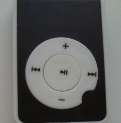 Compact MP3 player black and white. Size 4.5 * 3 * 1.5