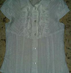 Okul beyaz bluz p128