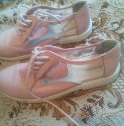 Шкіряні літні туфлі 33