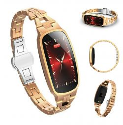 Smart Women Watch Bracelet B72 Gold New