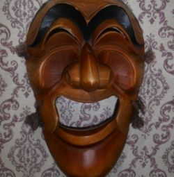Mask from a natural tree wall