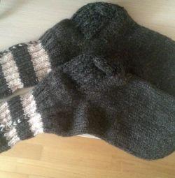 Носки шерстяные ручной работы