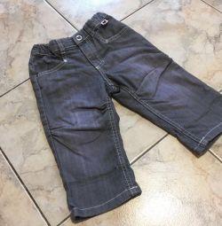 Jeans H & M 6-9 months.