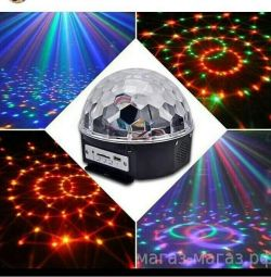 Disco ball with flash drive and light music. See Profile