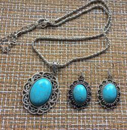 Jewelry set Blue
