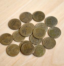 Coins 1 kopek of the USSR 1972-1991