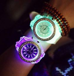 Glowing watches