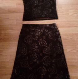 universal, stylish set, (top + skirt)