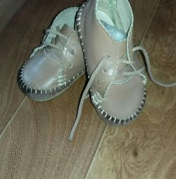 Baby shoes spring-fall leather