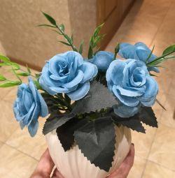 Artificial blue roses bouquet