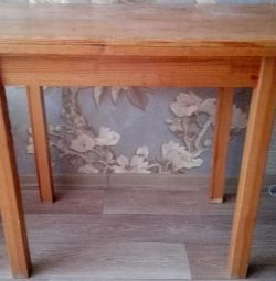 Wooden table used or exchange