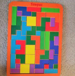 Тетрис деревянный+Сложи квадрат