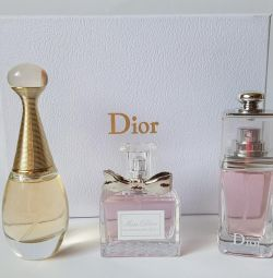 3 in 1 Christian Dior Perfume Set Gift