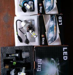 Светодиодные лампы Hlxg 2 Шт. h4 H7 H1 H3 H8 H11