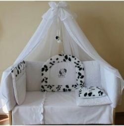 Комплект в ліжечко для новонародженого