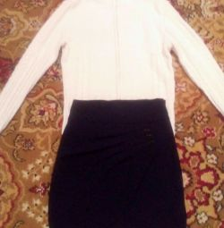 Школьная юбка + кофточка