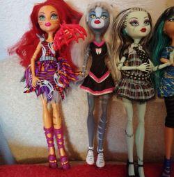 Dolls Monster High.TORA CIRCUS, Frankie, Cleo, Miaulodiya