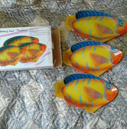 A set of dishes fish