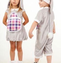 Costume de carnaval noi pentru copii de la 2 la 4 ani