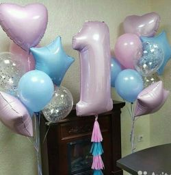Μπαλόνια ηλίου γενέθλια