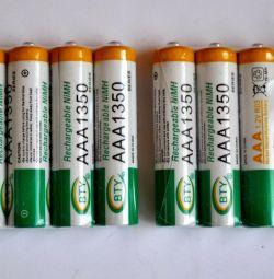 Μικρές μπαταρίες AAAA (1350 mA.)
